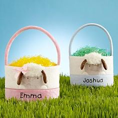 Baby's First Easter Lamb Baskets