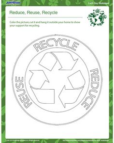 Reduce, Reuse, Recycle – Fun Earth Day Worksheet