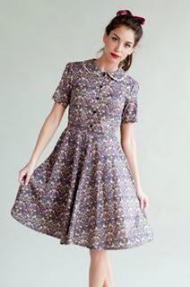 Vintage inspired dress by Plum and Pigeon, handmade in Liberty fabric, £70