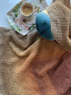 Moss Stitch, Shawl, Tassels, Triangle, Turtle Neck, Knitting, Crochet, Sweaters, Art