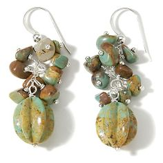Turquoise Sterling Silver Dangle Earrings at HSN.com.