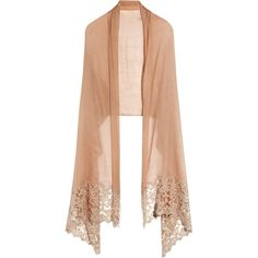 What's New|NET-A-PORTER.COM ❤ liked on Polyvore featuring accessories, scarves, shawl, jackets, tops, women, valentino scarves and shawl scarves