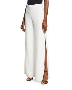 b2309fe3a4 TCAK2 Alexis Brenda Wide-Leg Side-Slit Pants