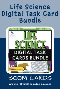 This is a discounted bundle of all the Life Science digital task cards hosted at Boom.