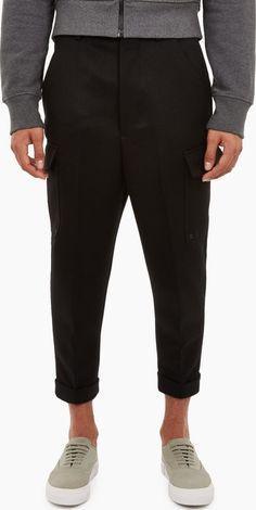 Black Wool, Carrot, January, Trousers, Label, Menswear, Mens Fashion, Paris, Legs