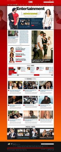 CNN - Badrul Rupak Portal Website, News Website Design, Web Design, Culture, Interactive Design, User Interface, Ads, Photo And Video, Inspiration
