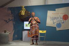 29/05/16. Bonifacio Ofogo cuenta  El árbol y la palabra. Cuentos de África en el Pabellón Infantil de la FLM. Foto © Jorge Aparicio/ FLM16