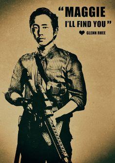 The Walking Dead Glenn Rhee 'Maggie I'll by ExtremepandaDesign