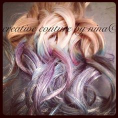 """20"""" Ombre, 100 grams, Tie dye Hair, Dipped, Purple, Hot Pink,Turquoise,Hair Extensions, Golden Blonde Extensions, Clip in Hair Extensions. $169.00, via Etsy."""