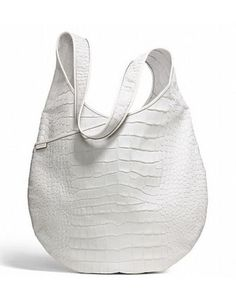 #COACH Bleecker Pinnacle XL Sling Bag In Croc Embossed Leather