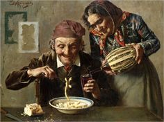"""A hearty meal"" → Eugenio Zampighi"