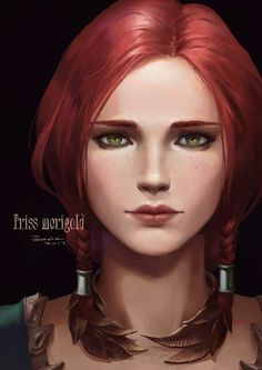 The Witcher Series Witcher Triss, Witcher Art, Ciri, The Witcher Game, The Witcher Books, Anime Fantasy, Fantasy Girl, Fantasy Characters, Female Characters