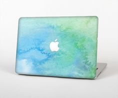 """The Subtle Green & Blue Watercolor Skin Set for the Apple MacBook Pro 15"""" with Retina Display"""