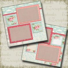 Items similar to ROSE - 2 Premade Scrapbook Pages - EZ Layout 277 on Etsy Scrapbook Box, Baby Scrapbook Pages, Finger Painting, Treasure Boxes, Free Paper, Box Design, Paper Piecing, Scrapbooking Layouts, Scrapbooks