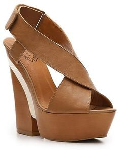 N.Y.L.A. Krisscross Wedge Sandal