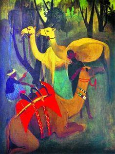 Camels (1941) - Amrita Sher-gil