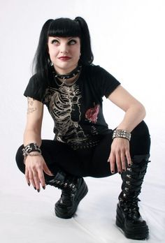 Pauli Perret as Abby of NCIS all time goth girl from my favorite tv show.