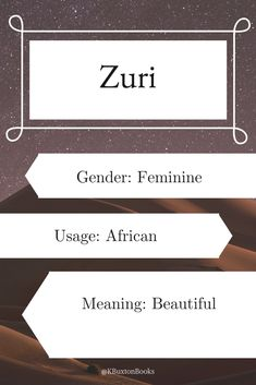 Zuri - girl's name