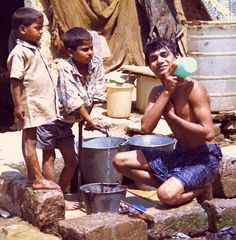 Delhi Slum Bath