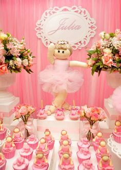 Festa Provençal - Site Oficial: Bailarina Ballerina Birthday Parties, Ballerina Party, Diy Party, Baby Shower Parties, Party Planning, Valentino, Invitations, Table Decorations, Pink
