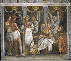 https://flic.kr/p/dBuS4H | Pompeii Mosaic | Mosaic with scene involving theater performers and musicians. Museo Archeologico Nazionale Napoli.