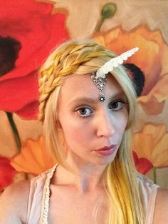 Hey, I found this really awesome Etsy listing at https://www.etsy.com/listing/193077838/clear-unicorn-horn-circlet