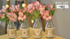 DIY: Como fazer vaso LOVE com garrafinhas