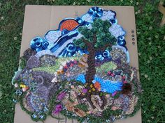 freeform landscape #crochet #freeform #вязание