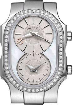 Philip Stein Small Swiss Signature Watch Head with Diamond Bezel