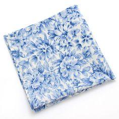 1940s Beaufort Blue Pocket Square #vintage #blue