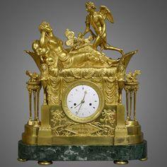 Large French 'Le Rapt De La Rose' Figural Mantel Clock (1810)