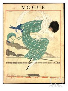 Vogue Cover - June 1918 Poster Print by Georges Lepape at the Condé Nast Collection