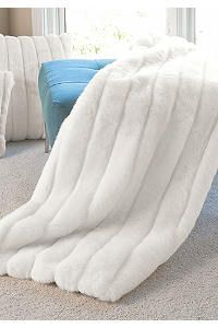 Signature Series White Mink Faux Fur Throws. Love these throws! So comfy!
