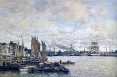 Monet, Eugene Boudin, Honfleur, Le Havre, Art Moderne, Painting & Drawing, Landscape, Portrait, Art Blog