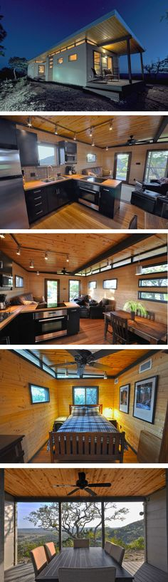 Ive written about plenty of companies that offer these types of dwellings but one new one I came across is Kanga. Out of Texas Kanga designs prefabricated kits for cabins sheds and stud Small Room Design, Tiny House Design, Interior Exterior, Home Interior, Tiny House Living, My House, Small House Renovation, Interior Design Minimalist, Tiny House Movement