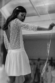Robe NERVAL - wedding and engagement photo Short Lace Wedding Dress, Wedding Gowns, Laura Lee, Boho Dress, Dress Up, Carolina Herrera, Mode Inspiration, Mode Style, Bridal Dresses