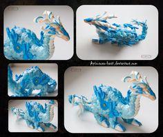 Blue dragon 1_12 by Apirusova-Basti on DeviantArt #Dragon #Sculpt