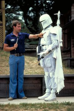Behind-the-scenes photos of prototype Boba Fett costume, 1978