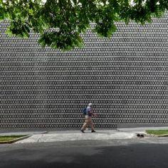 Perforated+concrete+walls+encase++La+Tallera+gallery+by+Frida+Escobedo