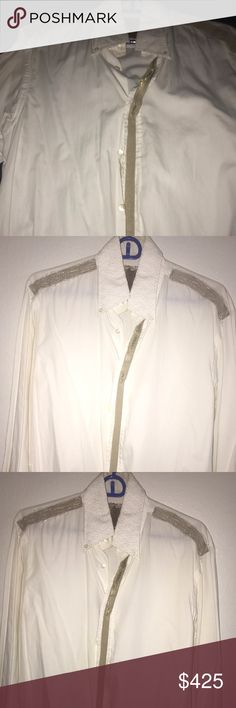 Men's button down couture shirt A long sleeve couture shirt in excellent condition. Shirts Casual Button Down Shirts