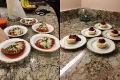 Chicken Parmesan with marinara sauce and cheesecake with a raspberry coulis : ketorecipes