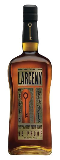 Larceny Bourbon (Heaven's Hill, Kentucky): made in the Old Fitzgerald style using winter wheat