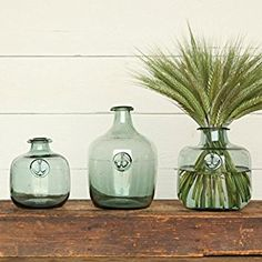 Anchor Stamped Glass Bottles