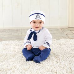 Baby Sailor 2-piece Layette Set