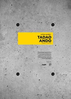 Tadao Ando by Haitham Almayman, via Behance Graphic Design Layouts, Graphic Design Inspiration, Layout Design, Print Design, Book Design, Cover Design, Design Art, Urban Design, Typography Prints
