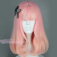Gold Pink Peach Fade Gradient Harajuku Cosplay Wig