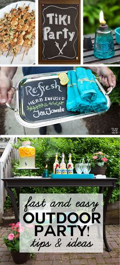 Affordable and easy to do tips and ideas to make your outdoor party a success!