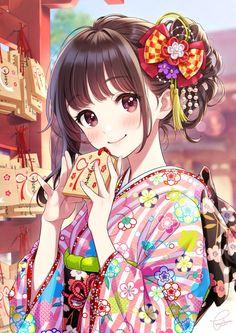Any anime recommendations? I've been rewatching anime recently, specifically Mahouka⠀ ⠀ Original Art⠀ Artis Anime Chibi, Manga Kawaii, Chica Anime Manga, Kawaii Anime Girl, Anime Art Girl, Anime Girls, Otaku Anime, Anime Girl Dress, Anime Kimono