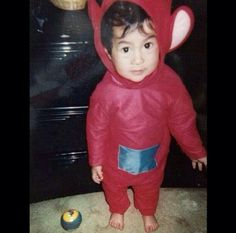 5 Seconds of Summer's bassist, Calum Hood, as a kid ( and a teletubbie )