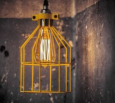 LAMPA CAGE żółty klosz - Lampy wiszące - zdjęcia, pomysły, inspiracje - Homebook Light Bulb, Ceiling Lights, Lighting, Pendant, Vintage, Design, Home Decor, Decoration Home, Room Decor